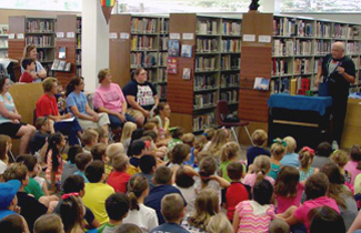 Magic show at the Cullman Library